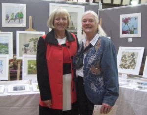 Sheila Ferris with Pam Phillips (former Mayor of Henley)